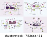 infographic template. the power ... | Shutterstock .eps vector #753666481