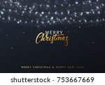 christmas background with... | Shutterstock .eps vector #753667669