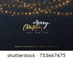 christmas background with... | Shutterstock .eps vector #753667675