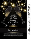 christmas design template with... | Shutterstock .eps vector #753671815