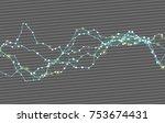 modern abstract vector... | Shutterstock .eps vector #753674431