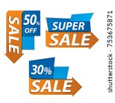 sale banner for your promotion  ... | Shutterstock .eps vector #753675871