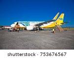 puerto princesa  philippines  ... | Shutterstock . vector #753676567