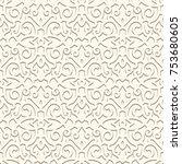 vintage beige ornamental... | Shutterstock .eps vector #753680605