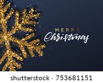 christmas background with... | Shutterstock .eps vector #753681151