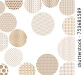 golden circles with different... | Shutterstock . vector #753681589