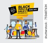 black friday sale happy family... | Shutterstock .eps vector #753687634