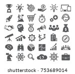 startup icons set  | Shutterstock .eps vector #753689014