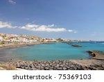Torviscas Playa. Tenerife island, canaries - stock photo
