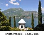 Villa Melzi at Como lake, Italy - stock photo