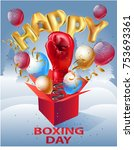 happy boxing day card   Shutterstock .eps vector #753693361