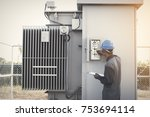 operation and maintenance in... | Shutterstock . vector #753694114