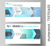 business templates in hd format ... | Shutterstock .eps vector #753701635