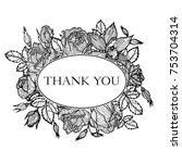 vintage vector floral frame in... | Shutterstock .eps vector #753704314