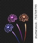 celebratory violet  yellow and... | Shutterstock .eps vector #753709795