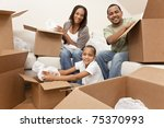 african american family ...   Shutterstock . vector #75370993