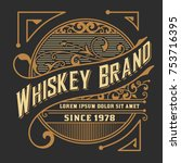 whiskey card. western style | Shutterstock .eps vector #753716395