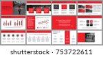 business presentation slides... | Shutterstock .eps vector #753722611