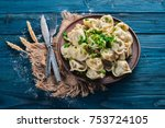 tasty homemade meat dumplings... | Shutterstock . vector #753724105