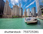 chicago downtown and chicago... | Shutterstock . vector #753725281