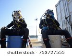 offshore commercial diver   Shutterstock . vector #753727555