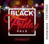 black friday sale vector... | Shutterstock .eps vector #753729025