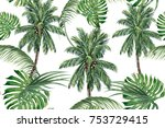 palm trees  tropical leaves ...