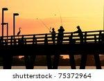 Catching Fish At Sunset...