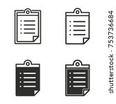 registration vector icons set.... | Shutterstock .eps vector #753736684