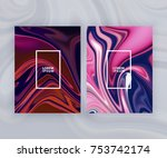 marble texture covers set.... | Shutterstock .eps vector #753742174