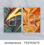 marble texture covers set.... | Shutterstock .eps vector #753742675