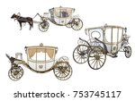 White Carriage Drawn By A...
