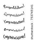 congratulations card.... | Shutterstock .eps vector #753745141