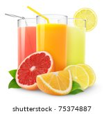 Fresh Citrus Juices Isolated O...