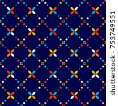 abstract geometric pattern ... | Shutterstock .eps vector #753749551
