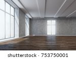 spacious unfurnished room... | Shutterstock . vector #753750001