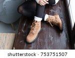beautiful women winter shoes  | Shutterstock . vector #753751507