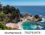 julia pfeiffer beach and mcway... | Shutterstock . vector #753751975