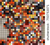 abstract mosaic pattern formed... | Shutterstock .eps vector #753752071