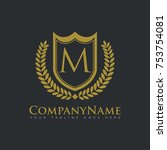 company shield royalty real... | Shutterstock .eps vector #753754081