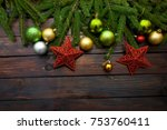 new year's greens  yellow and... | Shutterstock . vector #753760411