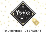 christmas  new year  winter... | Shutterstock .eps vector #753760645