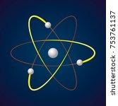 atom. electron  nucleus ...   Shutterstock .eps vector #753761137