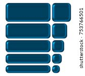 shiny blue metal style set of... | Shutterstock . vector #753766501