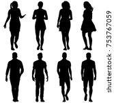 black silhouette group of... | Shutterstock .eps vector #753767059