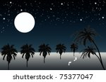beautiful  view of full moon...   Shutterstock . vector #75377047