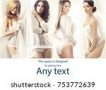 bridal underwear collection....   Shutterstock . vector #753772639