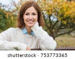 attractive happy thoughtful... | Shutterstock . vector #753773365