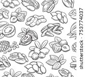 vector seamless pattern with... | Shutterstock .eps vector #753774037