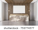 wooden office interior with a... | Shutterstock . vector #753774577